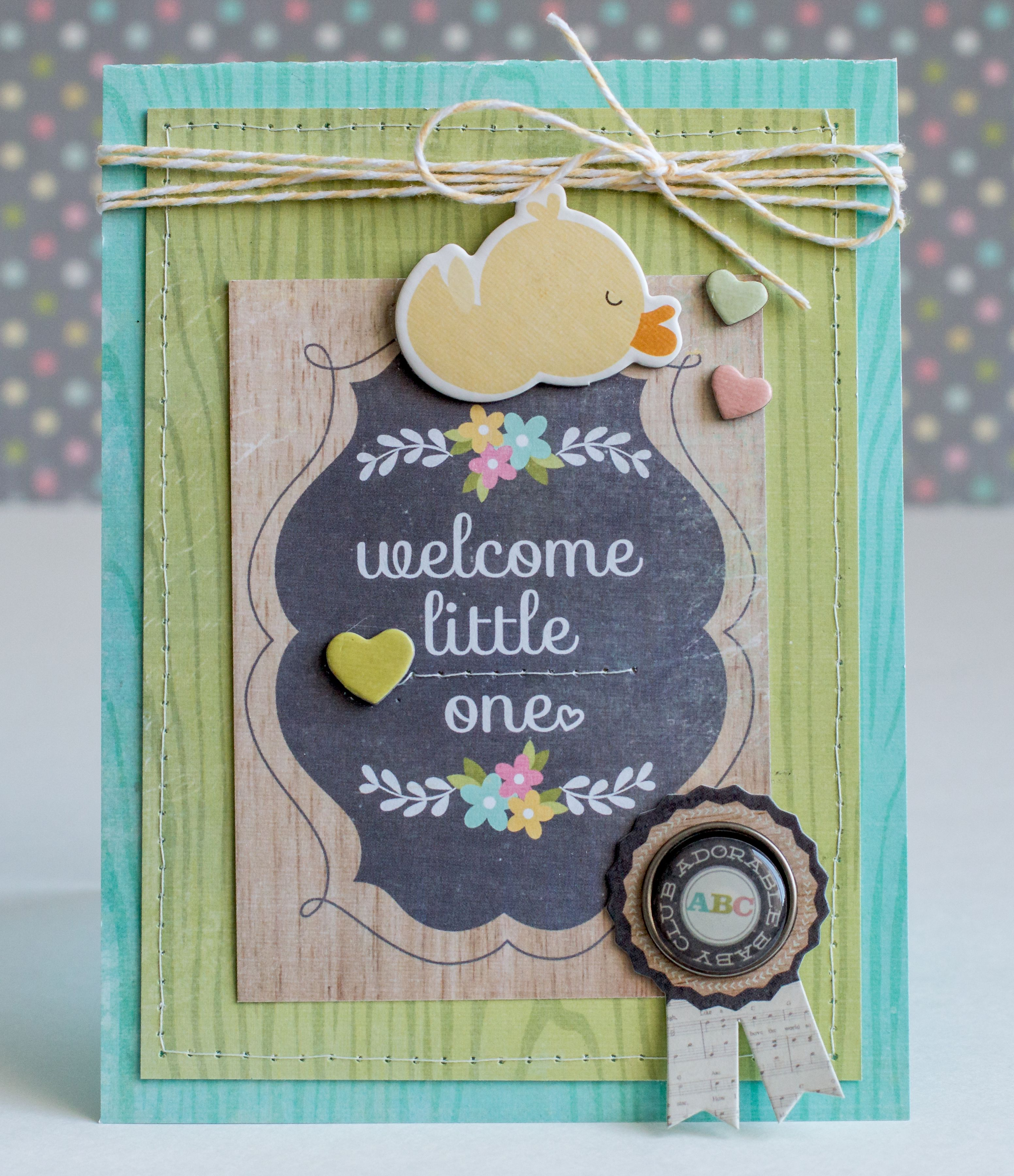 How to make scrapbook simple - Welcome Little One Scrapbook Com Make A Simple Layered Handmade Card For A