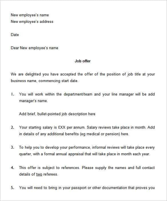 Sample offer letter what is included in a job offer letter with offer letter template free word pdf format amp premium job sample sample offer letter spiritdancerdesigns Images