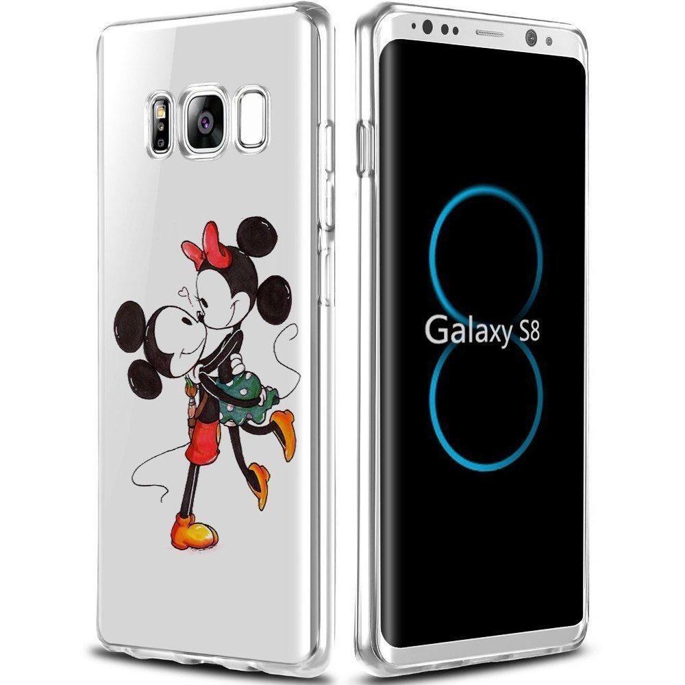 best website 98432 f6f8a Samsung Galaxy S8 Case Mickey Minnie Mouse Love Shockproof ...