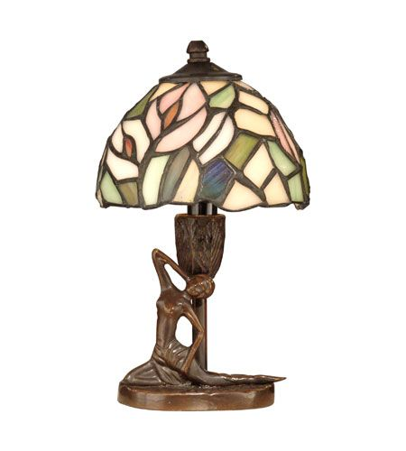 Dale tiffany tiffany lady accent lamp 1 light in antique bronze paint ta10607