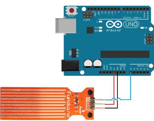 Water Level Sensor interfacing with Arduino how to detect