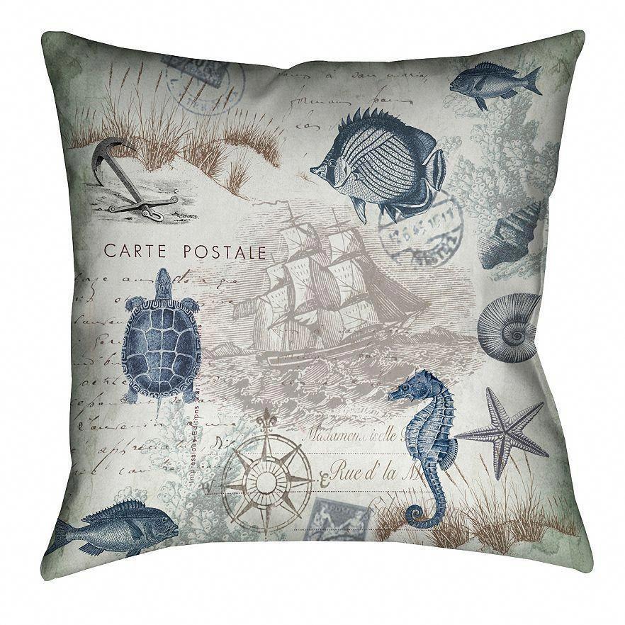 Photo of Seaside Postcard Indoor Decorative Pillow