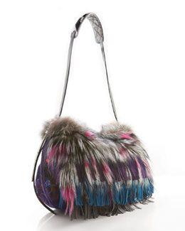 fd7181b978 V15TA Jimmy Choo Biker Fox & Floral Suede Bag | Winter Stuff | Bags ...