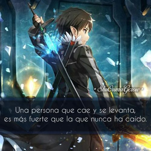 anime frases anime frases sentimientos ShuOumaGcrow sword art online