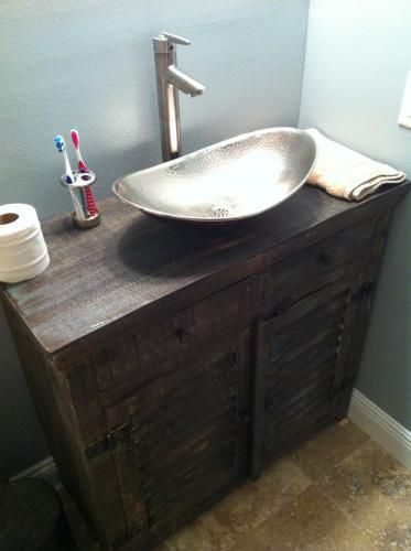 SINKOLOGY Vessel Sink in Hammered Nickel BOV 1812HN at The Home     Bathroom. SINKOLOGY Vessel Sink in Hammered Nickel BOV 1812HN at The Home