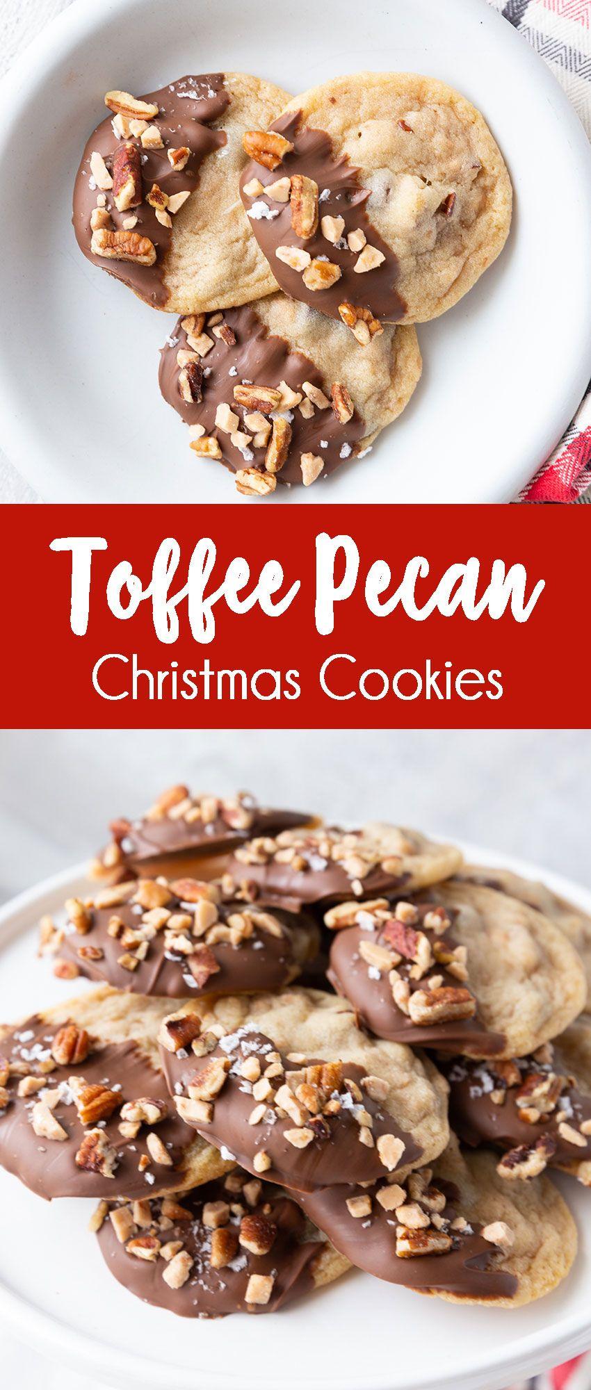 Toffee Pecan Christmas Cookies