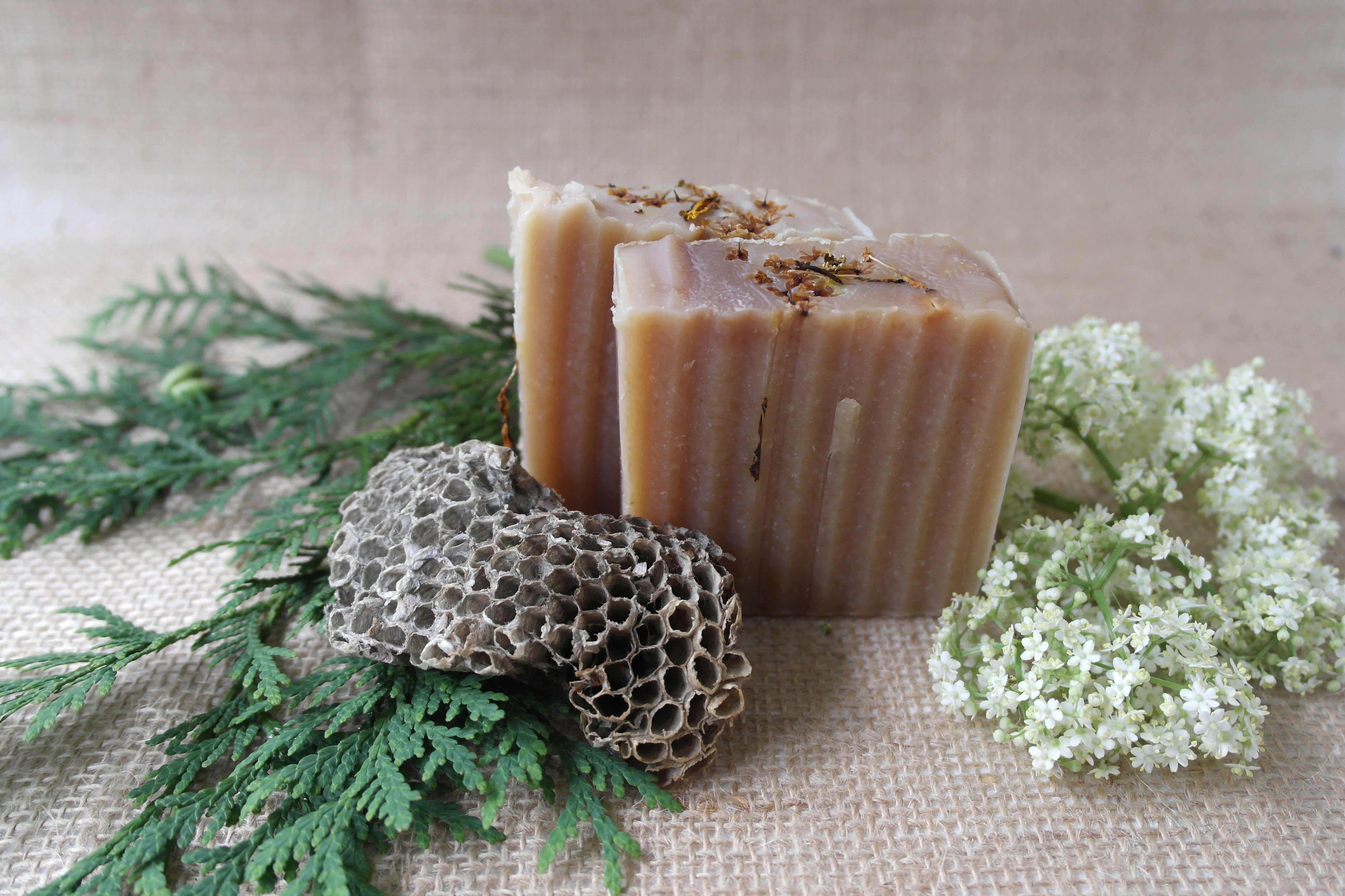 Calendula elder flower honey turmeric soap in 2020
