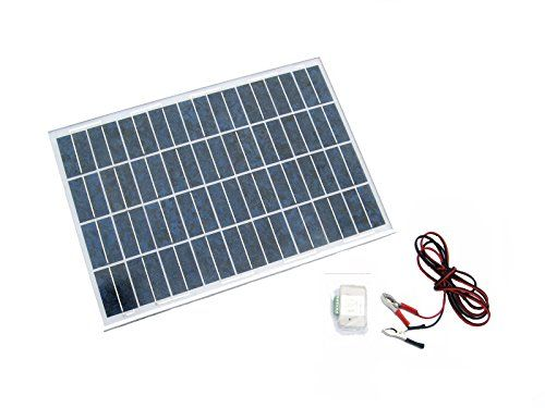 Eco Worthy 20w 12v Solar System Kit 20 Watt Polycrystalline Solar Panel Battery Clips 3a Charge Controlle Solar Panels Off Grid Solar Panels Solar System Kit