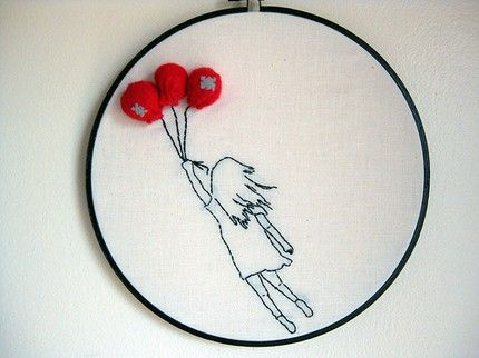 Embroidered Balloons