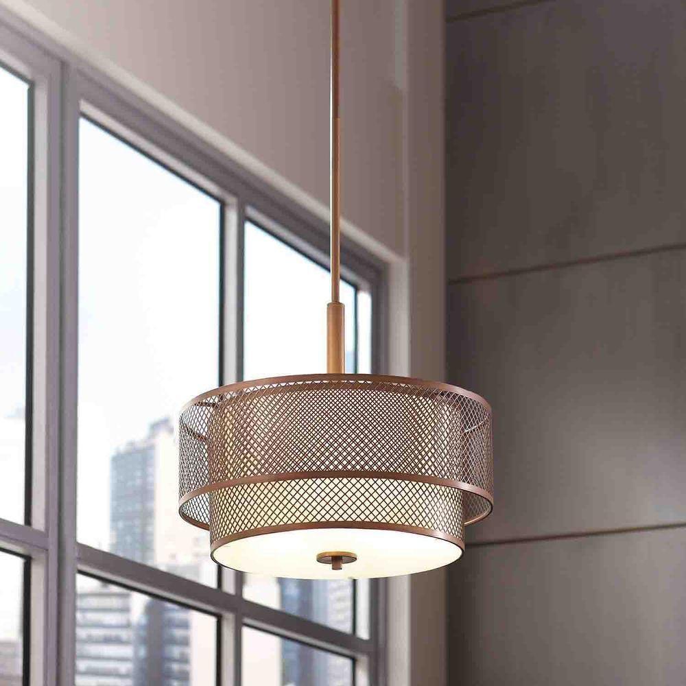 Home Decorators Collection 3-Light Modern Matte Gold ...