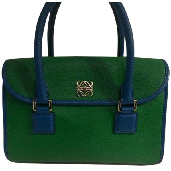 pre owned loewe alamo green tote bag 1035 liked on polyvore featuring - Christmas Purses Handbags
