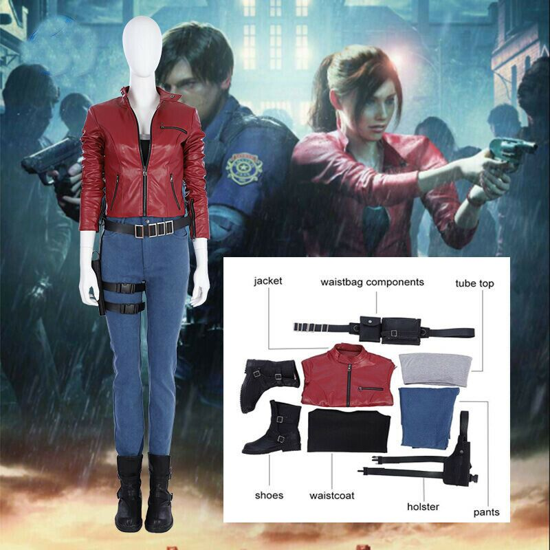 Resident Evil Re 2 Remake Biohazard Claire Redfield Jacket Cosplay Costume Suit
