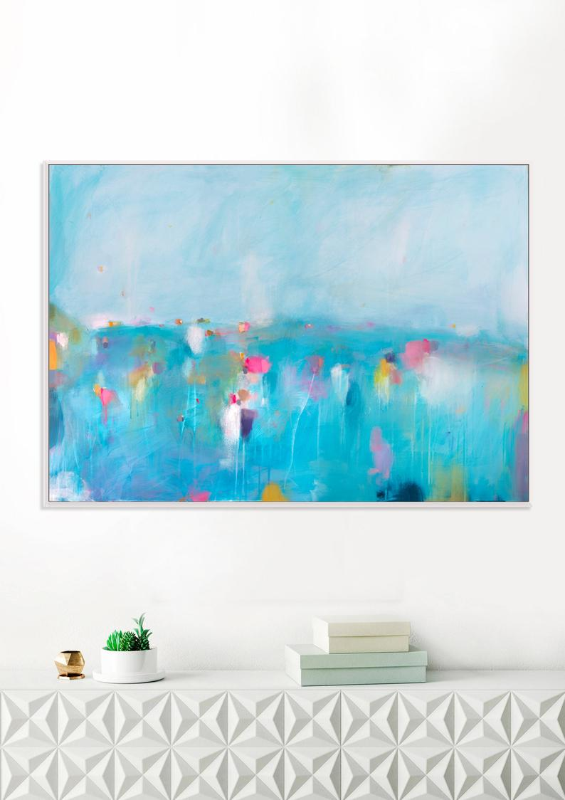 Extra Large Wall Art Coastal Art Gallery Wall Art Print Blue Etsy In 2021 Abstract Art Painting Abstract Canvas Art Wall Art Prints