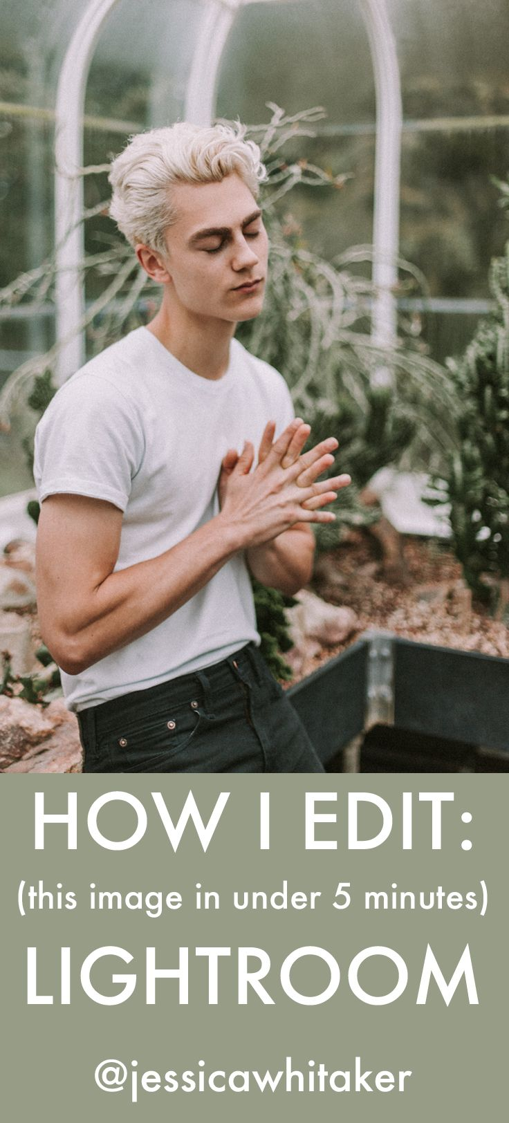 how i edited this male model portrait in under five minutes using adobe lightroom 5! this photography tutorial is perfect for any beginner with little or no experience in post production. easy, simple, and pretty! i used the LXC (loren & chris) presets from tribe archipelago for this greenhouse photoshoot. https://www.youtube.com/watch?v=AEcSoatbaHM