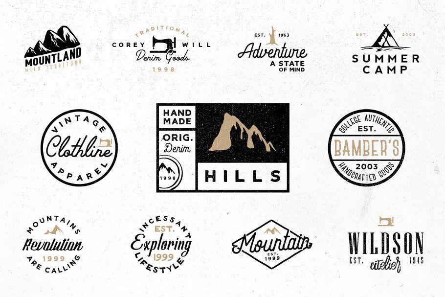 Vol 5 20 Minimal Vintage Logos Minimal Vol Vintage Templates Logo Templates Vintage Logo Retro Logos