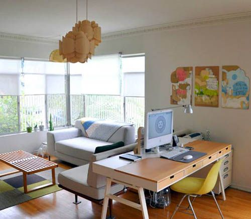 Small Office Den Decorating Ideas: Layout Ideas For Combo Living Room/ Home Office