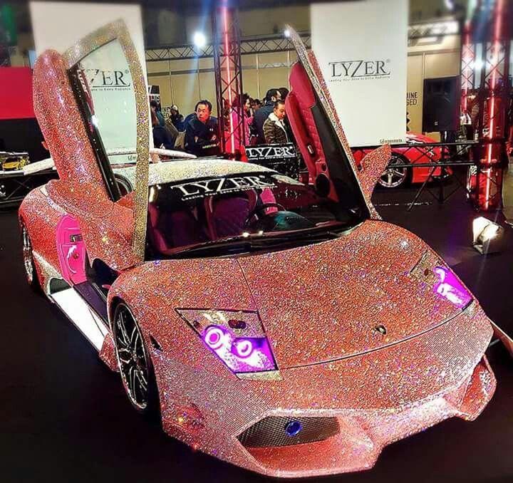 sparkly pink lamborghini murcielago i need that shit