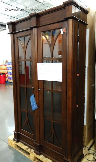 martin furniture glass door lighted bookcase costco