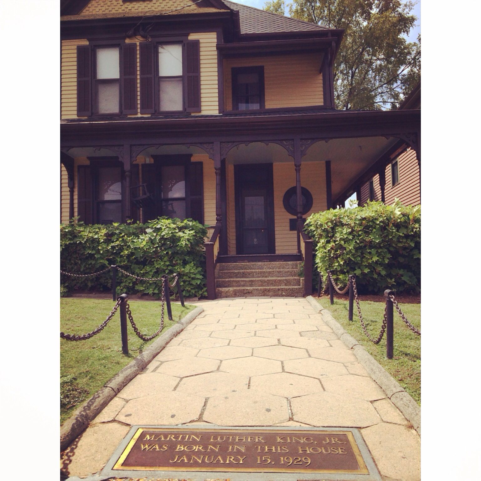 Martin Luther King Jr House In Atlanta Ga Historic Site In