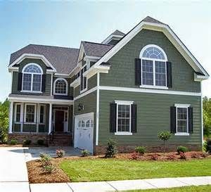 Sage Green House With White Trim
