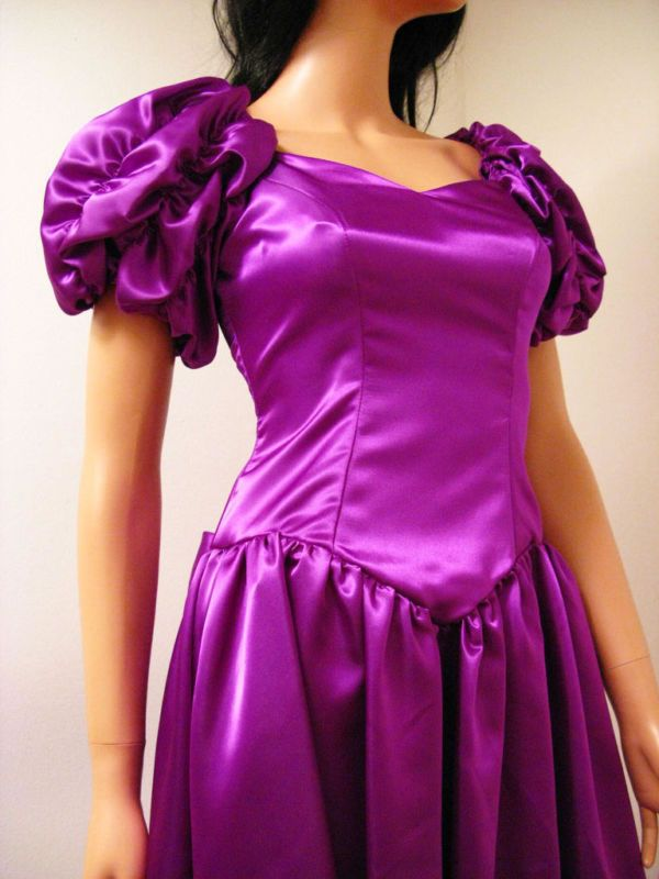 428ff00d4b 80s Satin Prom Dress