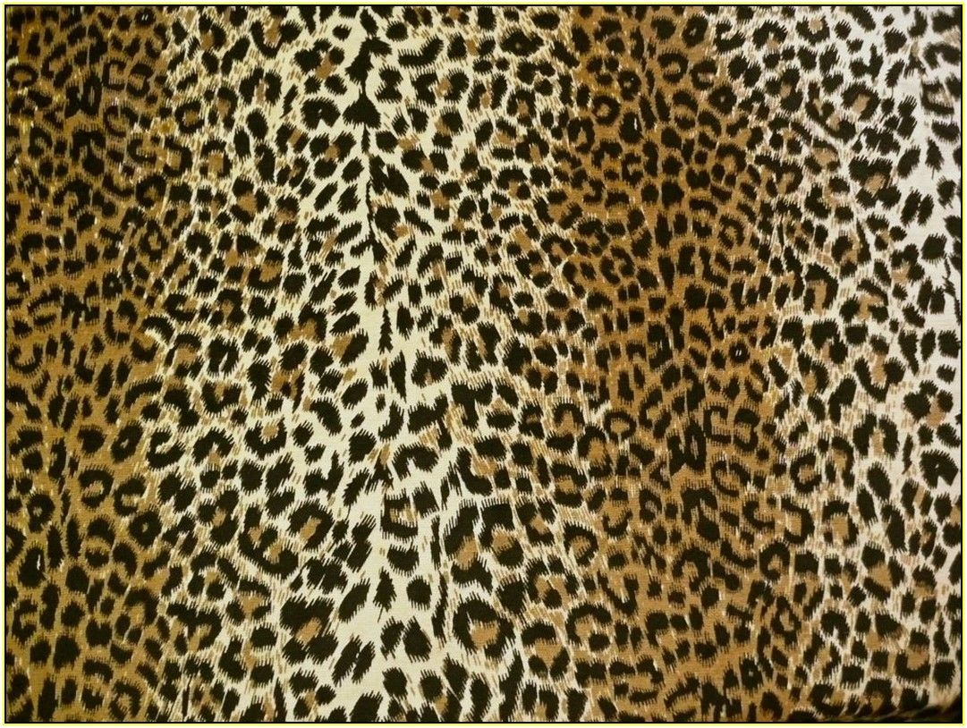 Leopard print upholstery fabric