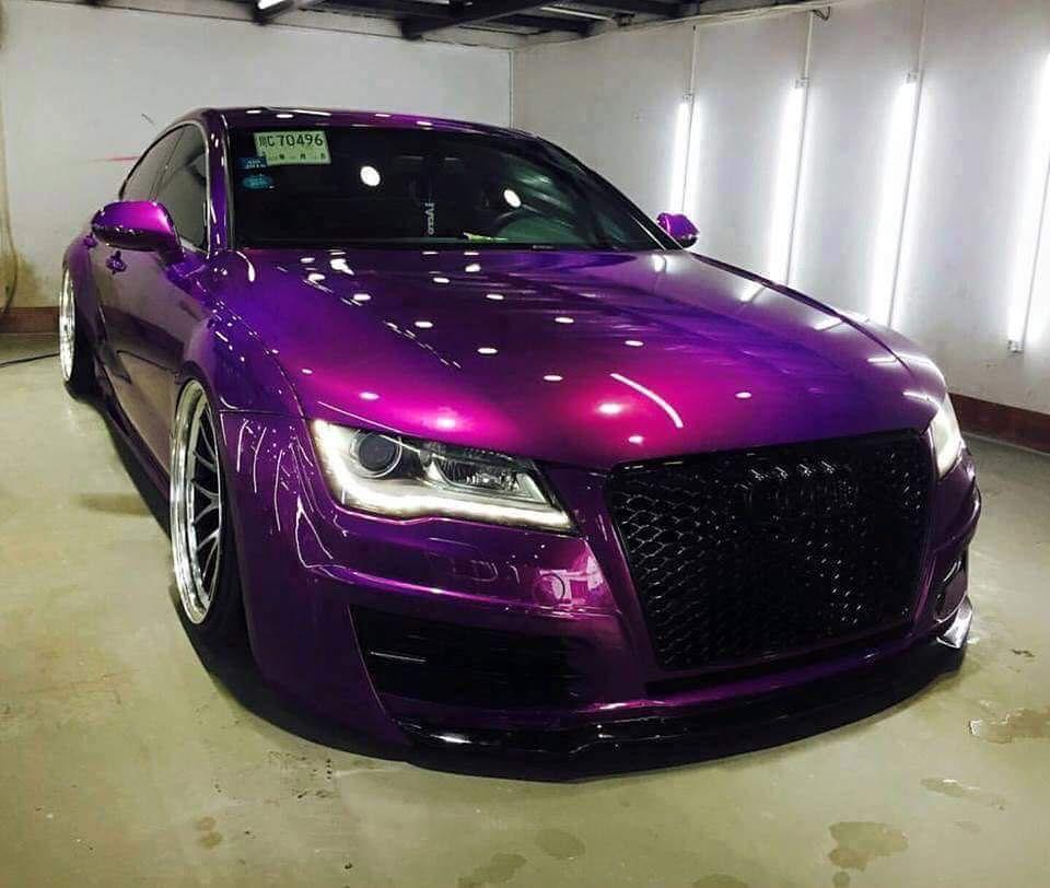 Outrageous colour Audi Purple car, Custom cars paint