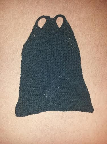 Loom knitted tank top by Gail L.