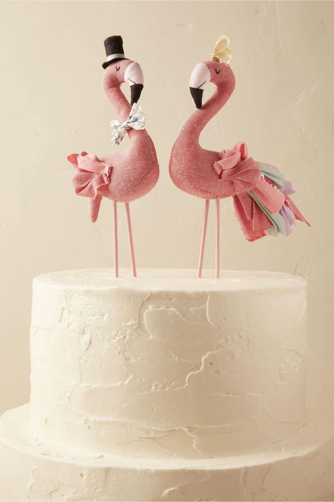 Mr. & Mrs. Flamingo Cake Topper from BHLDN   Summer Wedding Ideas ...