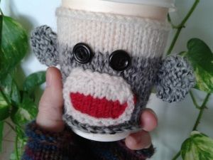 monkey sock cozy