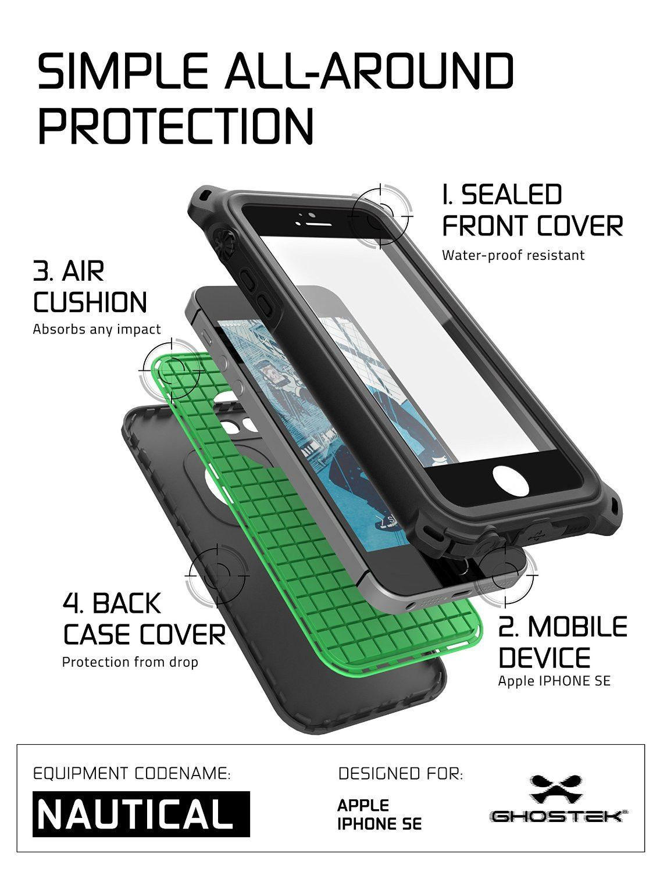separation shoes 56176 33e1e iPhone SE/5S/5 Waterproof Case, Ghostek® Nautical Black Series ...