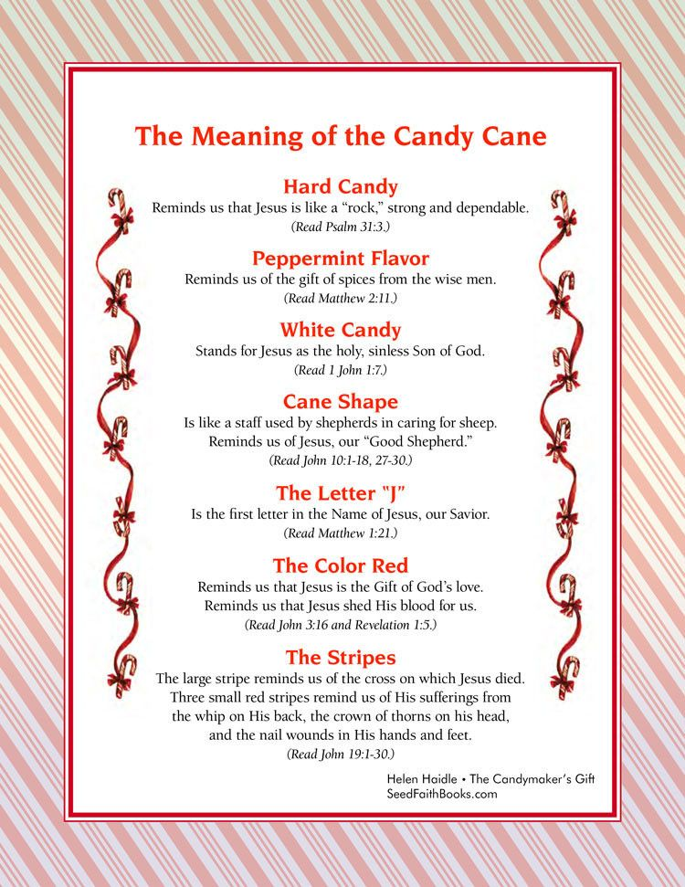 Meaning of the Candy Cane - PDF | Christmas poems, Candy ...