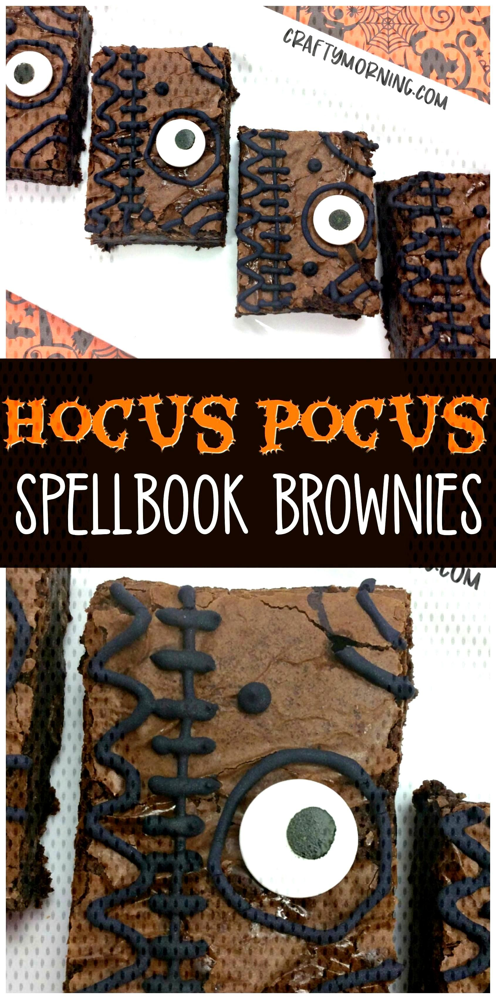 Make fun hocus pocus spellbook brownies for a halloween treat/dessert for the ki... Make fun hocus