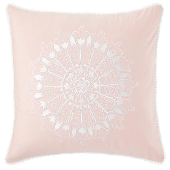 the land of nod kids pillows pink floral throw pillow in throw pillows - Pink Decorative Pillows