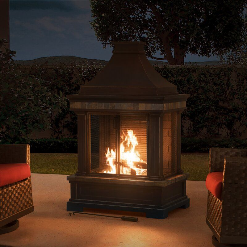 Pitchford Steel Wood Burning Outdoor Fireplace In 2020 Outdoor Fireplace Outdoor Wood Burning Fireplace Natural Gas Outdoor Fireplace
