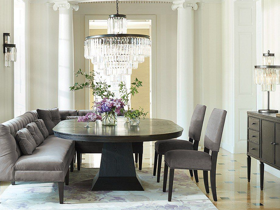 Leighton Dining Table Arhaus Furniture Dining Table In Living Room Pedestal Dining Table Round Pedestal Dining Table