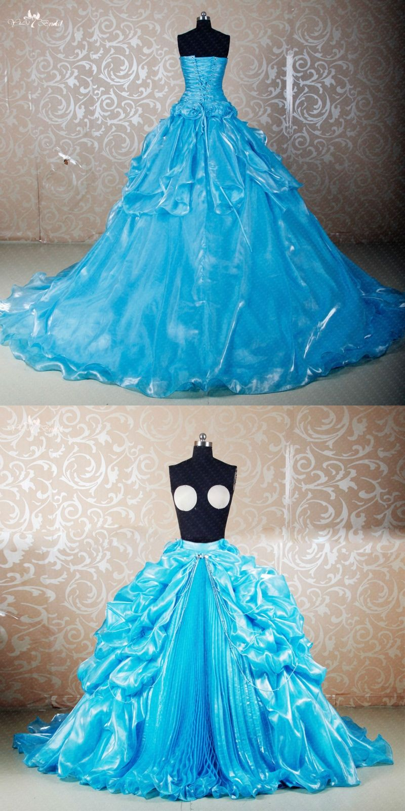 RS280 Custom Made DIY Seperate Pick Up Shine Organza Skirt Used For ...