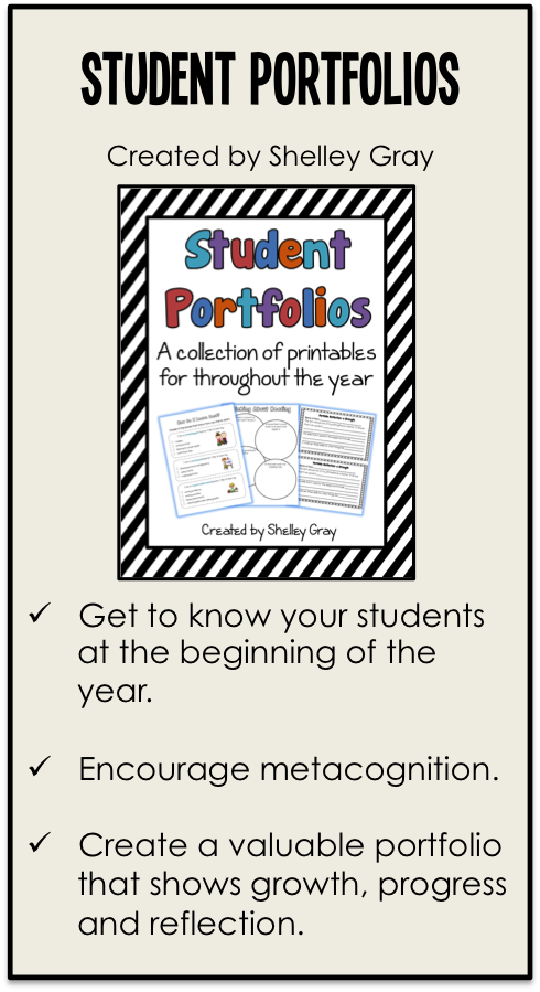 Student Portfolios: a collection of printables for