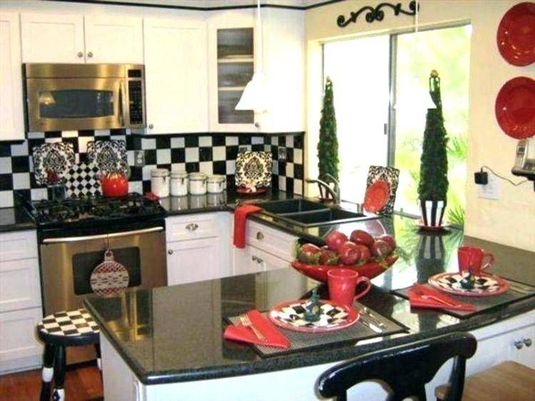 Red Black And White Kitchen Decorating Ideas Kitchen Decor Sets