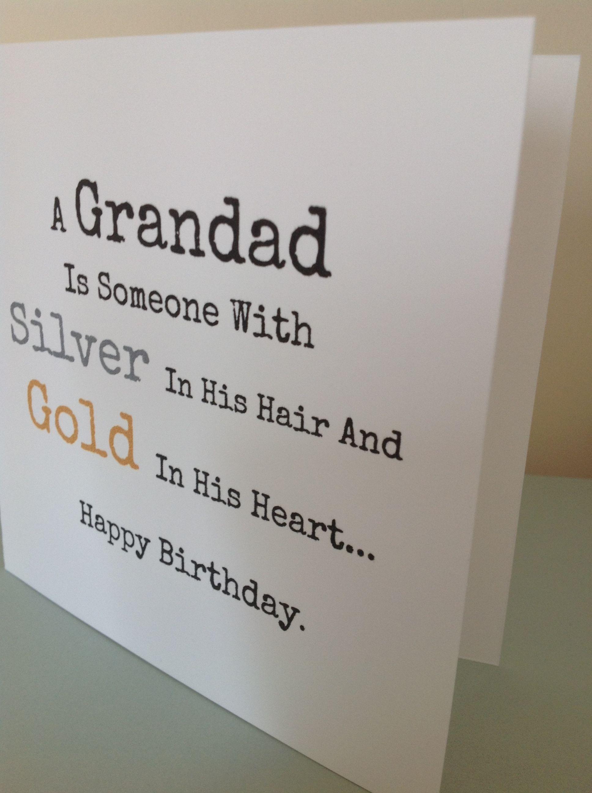 Grandad Birthday Card Www Facebook Com Funkyjunk Upcycled Uk Grandad Birthday Cards Cool Birthday Cards Papa Birthday Card
