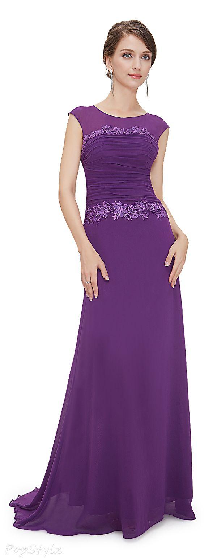 Pretty Trailing Ruched Long Dress