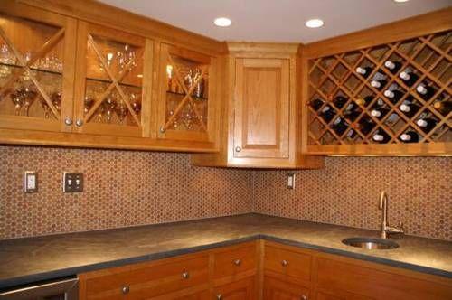 cork mosaic tile for floors walls bathroom kitchen 1 penny rh pinterest com Cork Wall Tiles Cork Wall Tiles