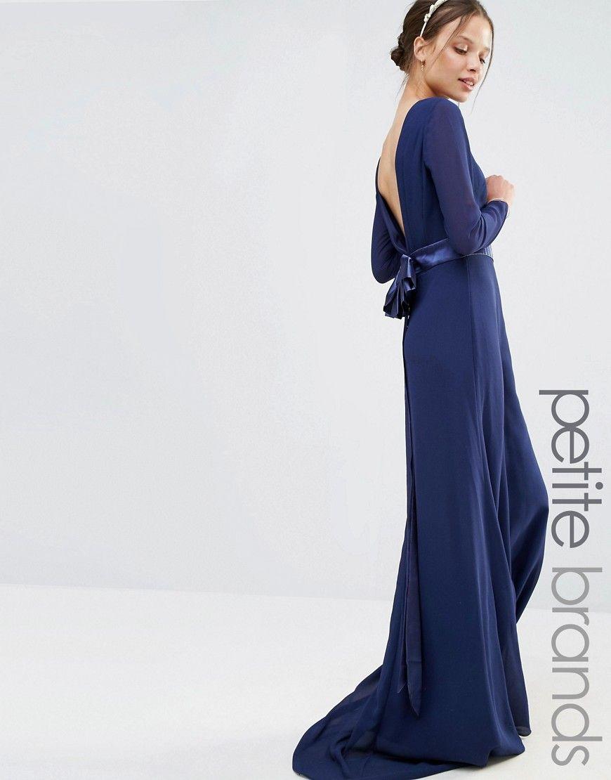 Image tfnc petite wedding robe longue à manches longues avec