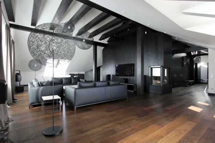 Penthouse Design - Das Wohnzimmer besitze eine große, luxuriöse