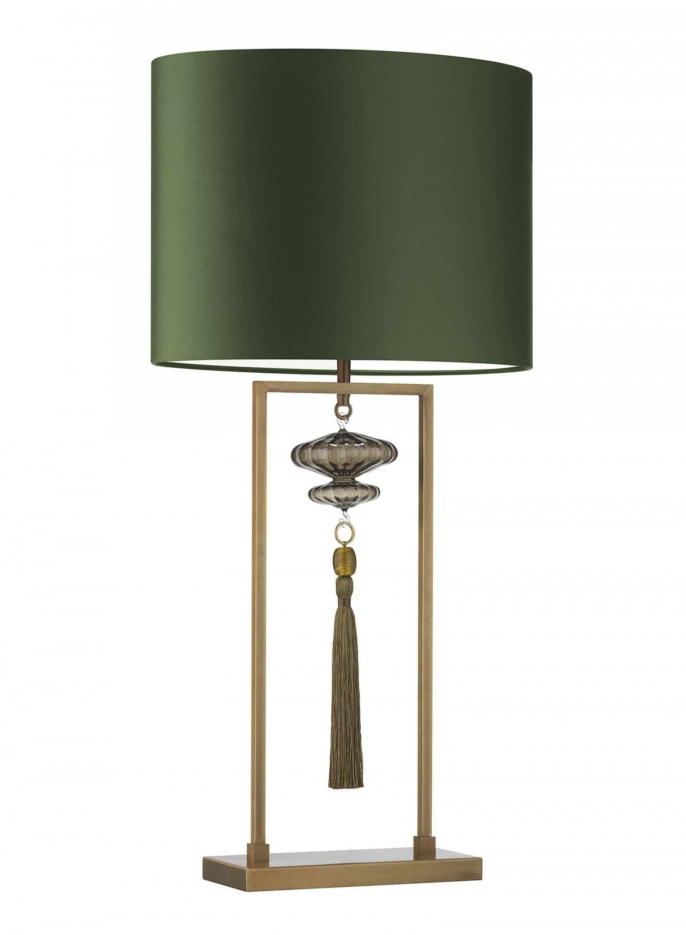 Constance Large Antique Brass Table Lamp Heathfield Co Green Table Lamp Table Lamp Brass Table Lamps