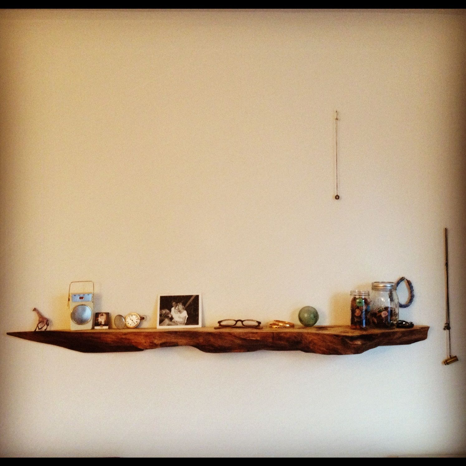 Corner Laundry Shelf Cottonwood Floating Shelf Live Edge Work In 2019