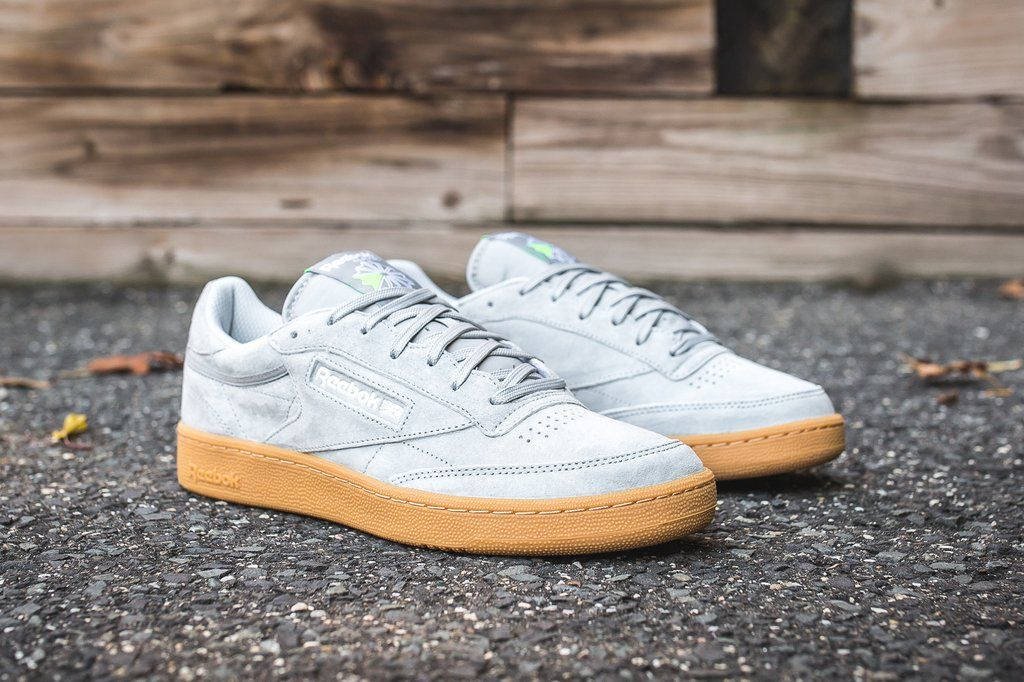 76ac385df3a5e REEBOK CLUB C 85 INDOOR - BASEBALL GREY GUM