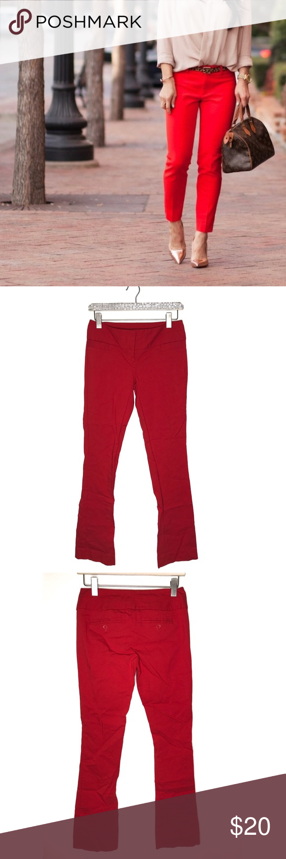 The Limited Exact Stretch Red Pants Size 0 The Limited