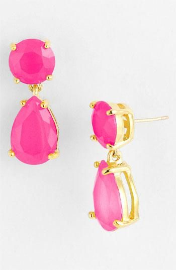 Neon Pink New York Leather Earring