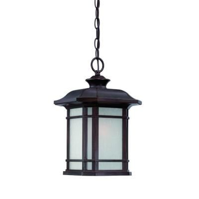 Acclaim Lighting Somerset Collection Hanging Outdoor 1-Light Architectural Bronze Light Fixture-8116ABZ at The Home Depot